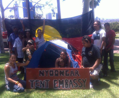 THE INAUGURATION OF THE NYOONGAR TENT EMBASSY - Nyoongar